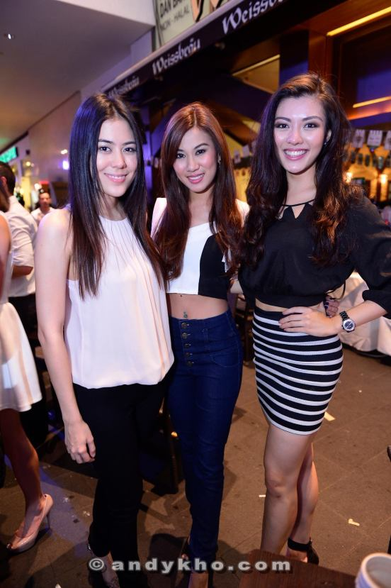A bevy of Miss Malaysia's at the launch party - Chloe Chen, Lee Yvonne and Carey Ng (L-R)