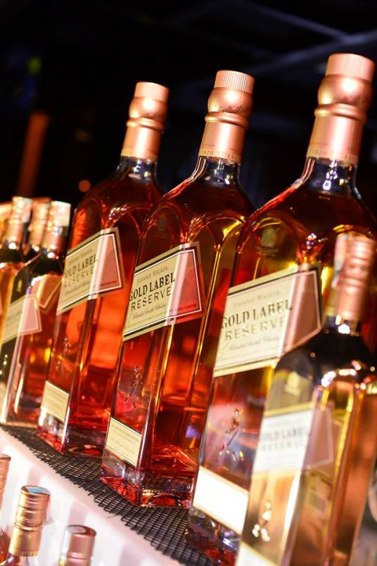 The star of the night was the Johnnie Walker Gold Label Reserve