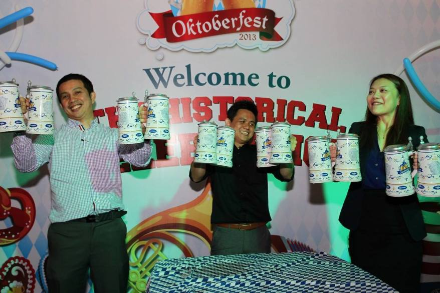 At the Oktoberfest parties there will be a number of fun activities and games that are popular during the Oktoberfest season including  Masskrugstemmen (Beer Mug Holding Competition), where participants will have to test their strength and stamina in holding increasing numbers of beer mugs (each mug weighs approximately 5 pounds when filled with beer)