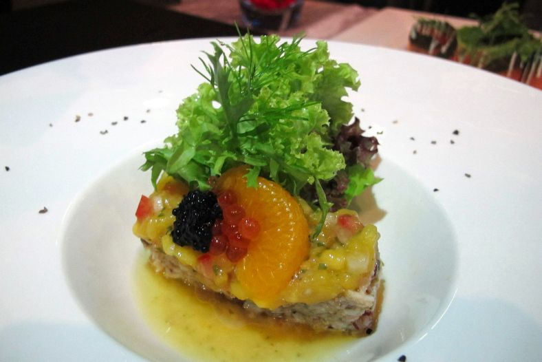 Lobster Salad - Warm marinated lobster salad toasted with lemon emulsion and cilantro mango salsa - RM53