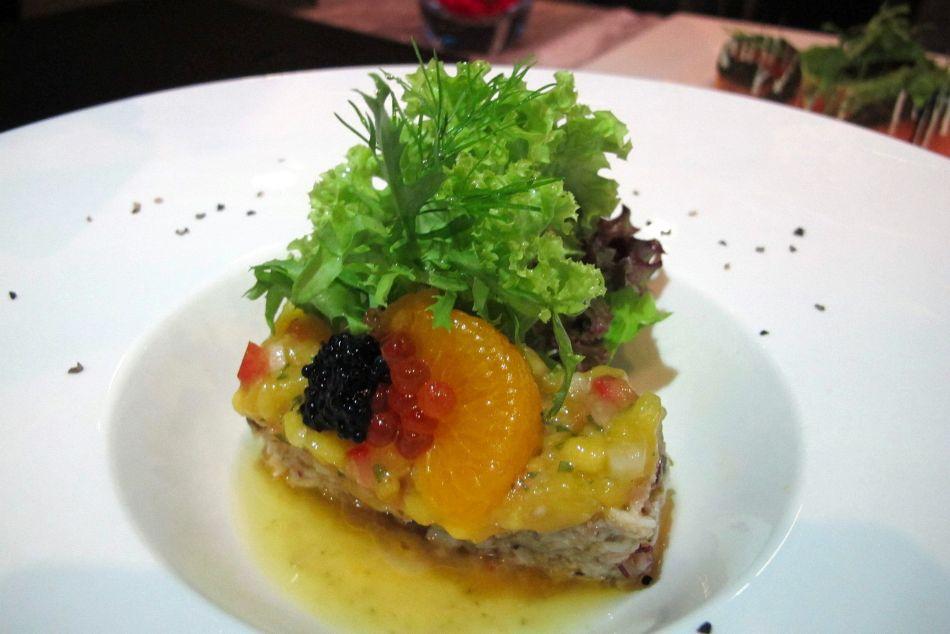 Lobster Salad - Warm marinated lobster salad toasted with lemon emulsion and cilantro mango salsa - RM53