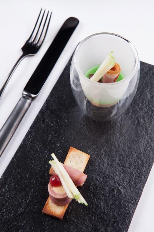 Foiegrass Crème Foiegrass, Duck Roll, Granny Smith Apple