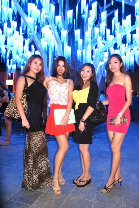 MHB's Sarah Low and Valerie Chua with Estelle and Evian