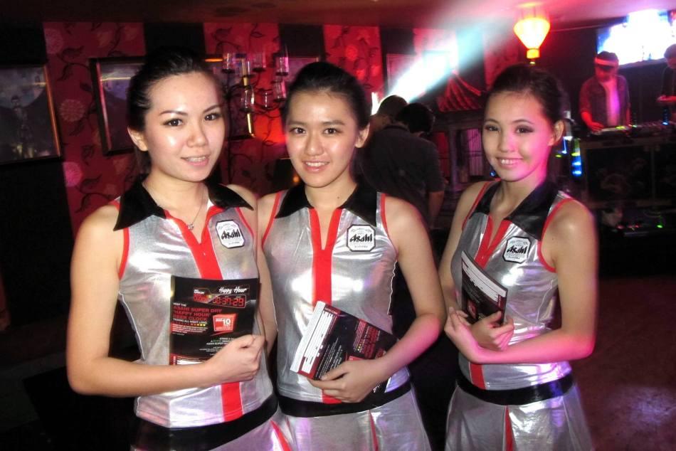 The Asahi promoter girls