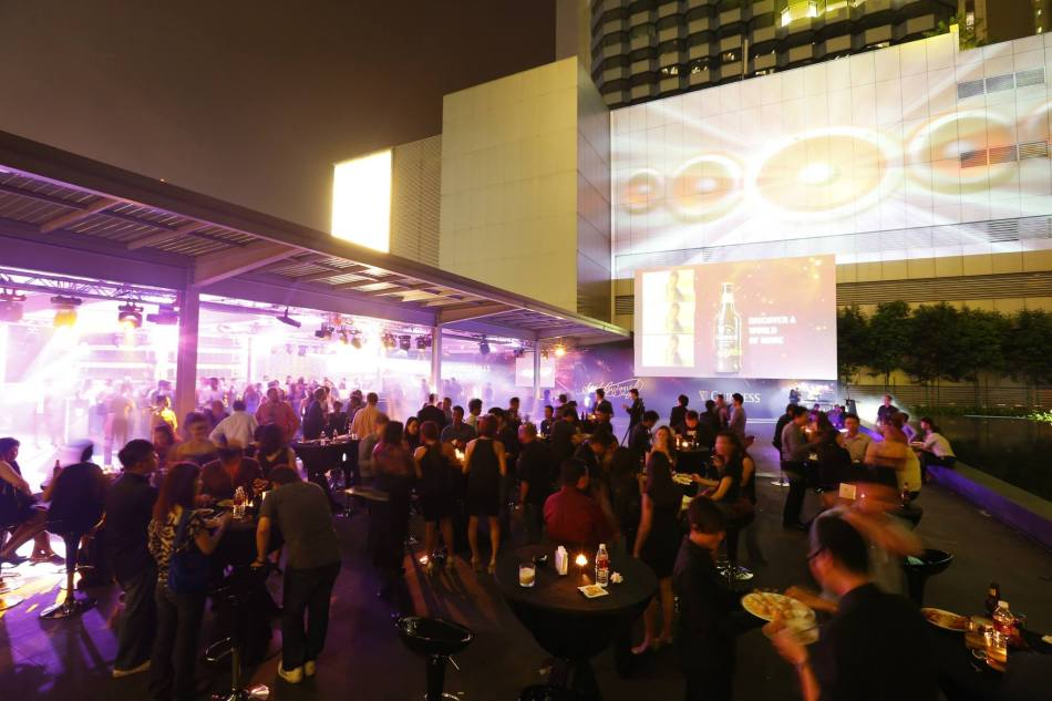 The event venue was an outdoor area on the 6th floor of the Intermark.