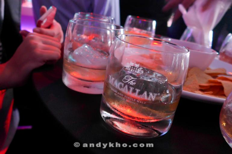 Lots of Macallan going around served by some cute promoter girls