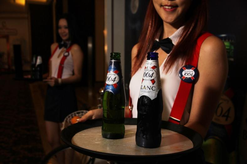 Lots of Kronenbourg 1664 lager and Blanc for us to enjoy throughout the night.