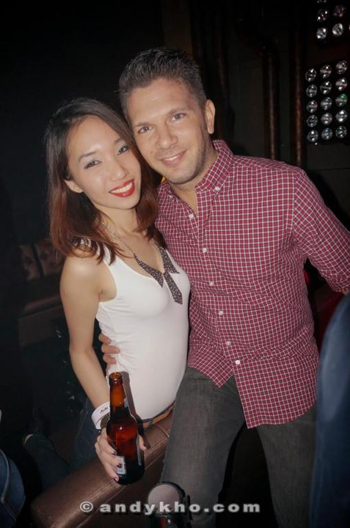 MHB's Naomi Tham with DJ Bento who also partied with us
