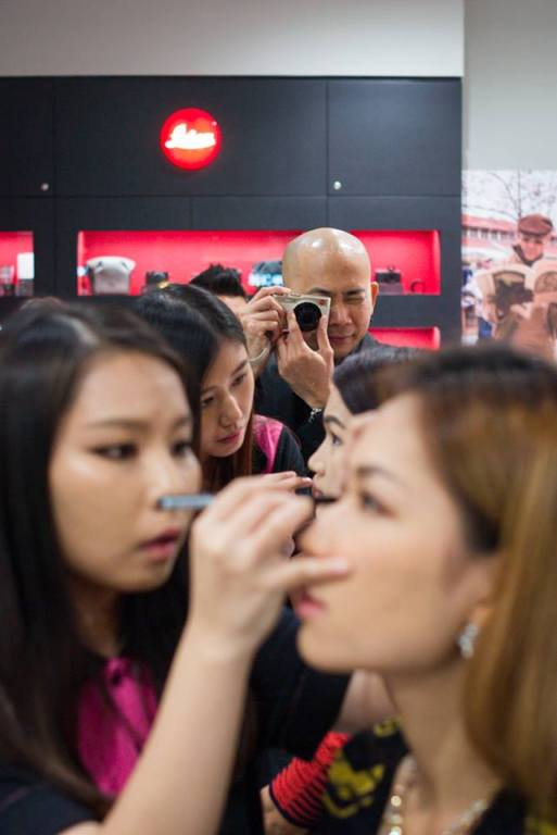 The girls getting their makeup done. Spot Andy Kho shooting with the Leica C.