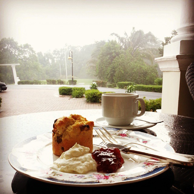 After the show we got to enjoy a delicious buffet spread by Carcosa and I went straight for the scones and headed to the patio to enjoy the view and the cool after-crazy-KL-downpour air.