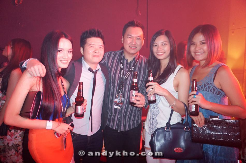 Us with Calvin Khoo the brand manager of Asahi in Malaysia.