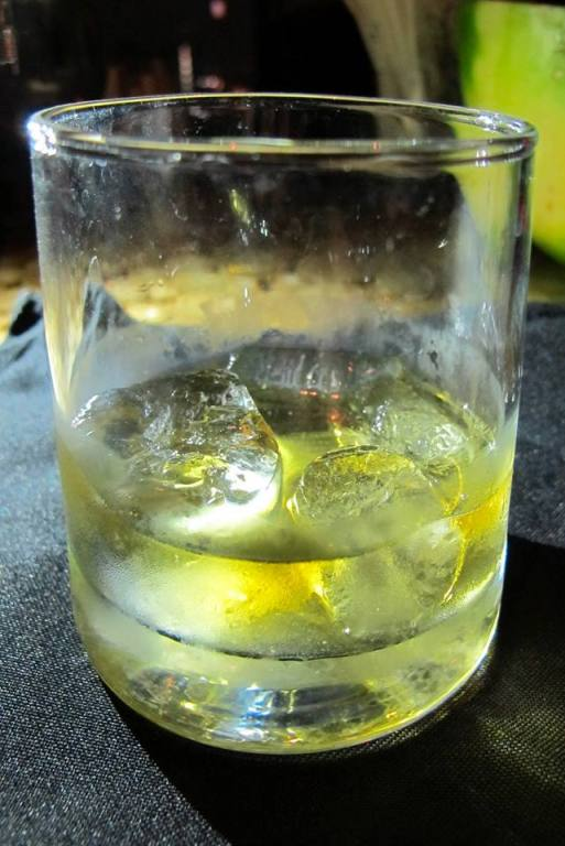 I had a glass of Johnnie Walker Gold Label Reserve on the rocks - RM24.00