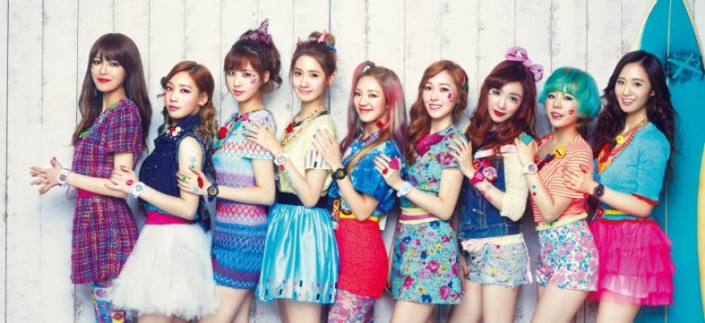 Girls Generation with Baby G