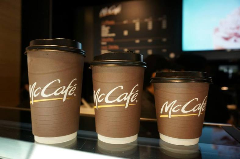 Most of the hot coffees come in three (3) different sizes to suit your needs.