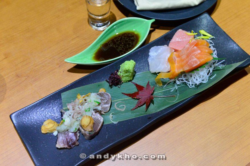 Salmon o-toro tai braised duck -rm 38