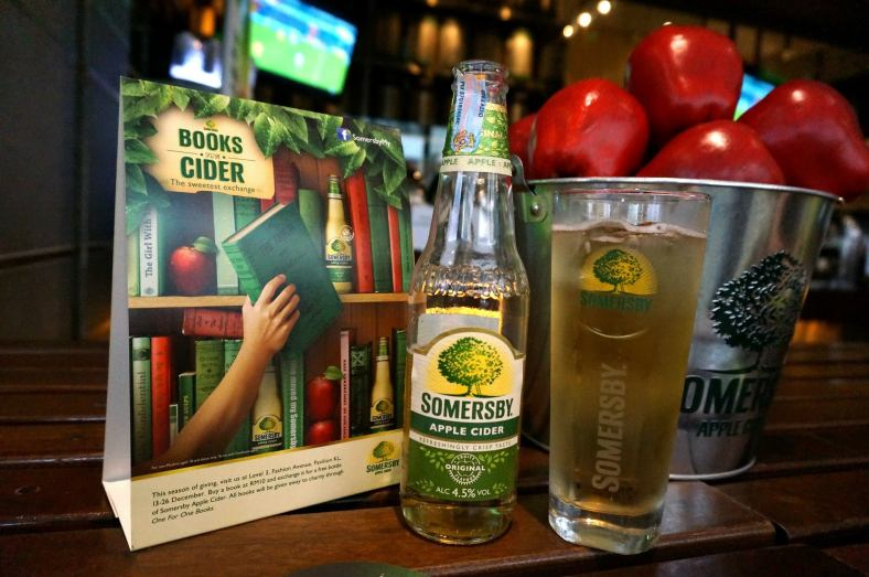 Somersby apple cider in the daytime is really refreshing!