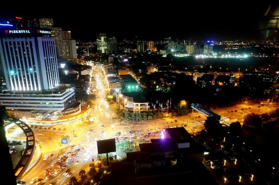 The view of Bukit Bintang and surrounding areas