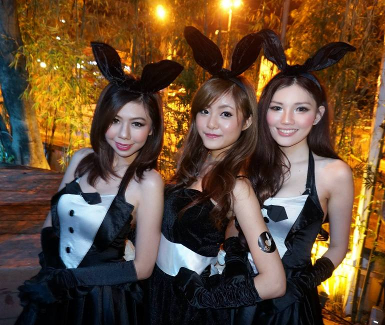 Lots and lots of Playboy bunnies around!