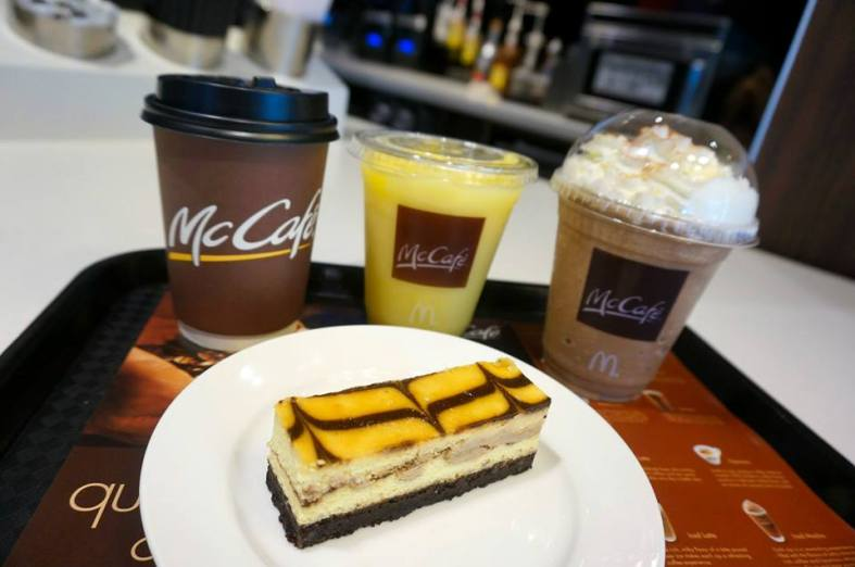 And ice-blended fruit based or coffee based frappés!