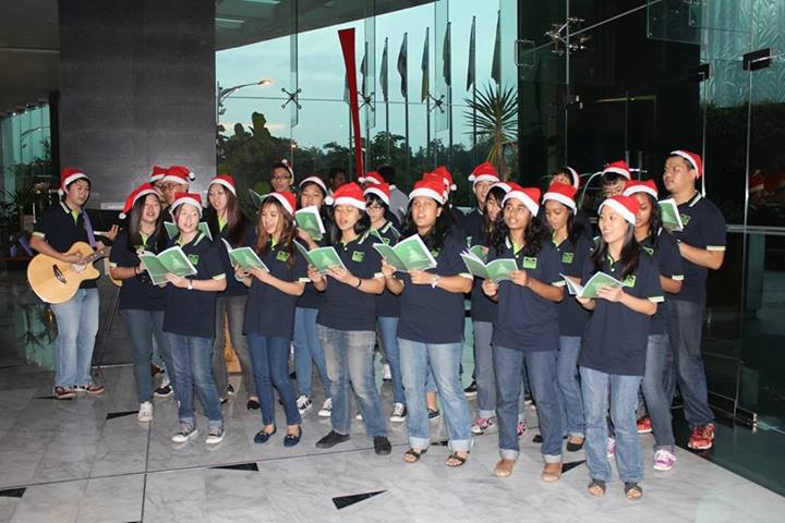 Carolers from the English Youth Ministry from Church of the Holy Rosary which is located just a couple of doors away from the hotel!