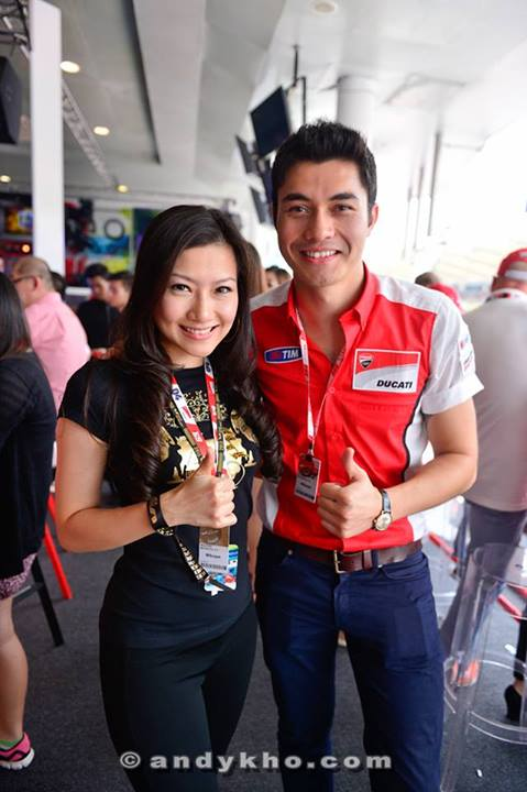 Veron with event host Henry Golding