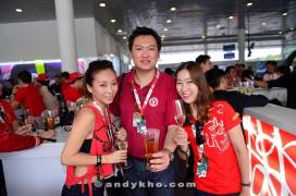With DJ Nikki and her friend from Korea