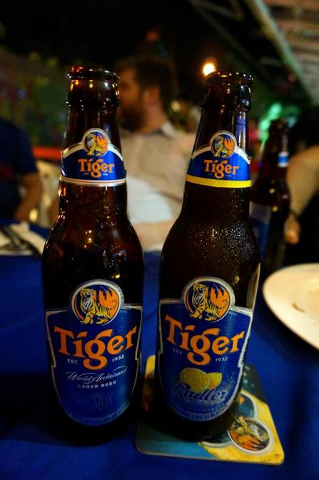 Normal Tiger beer versus the new Tiger Radler