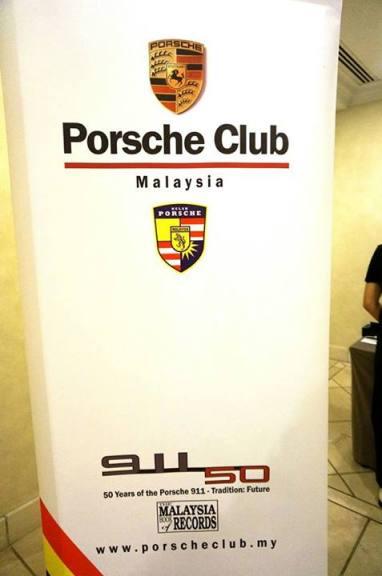 The annual dinner was a double celebration as it was also the Porsche 911's 50th anniversary