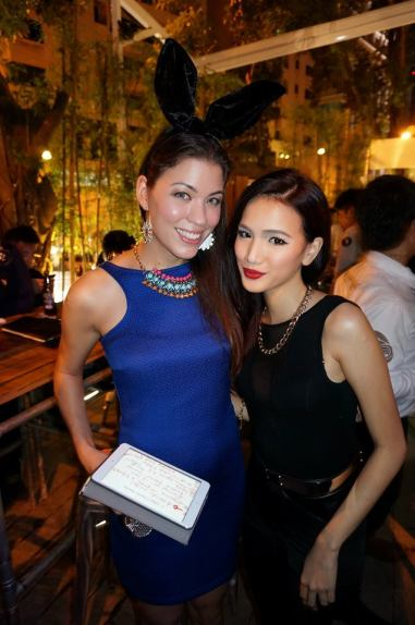 The delicious Nadia Heng (pictured here with Stephanie Lim) hosted the event