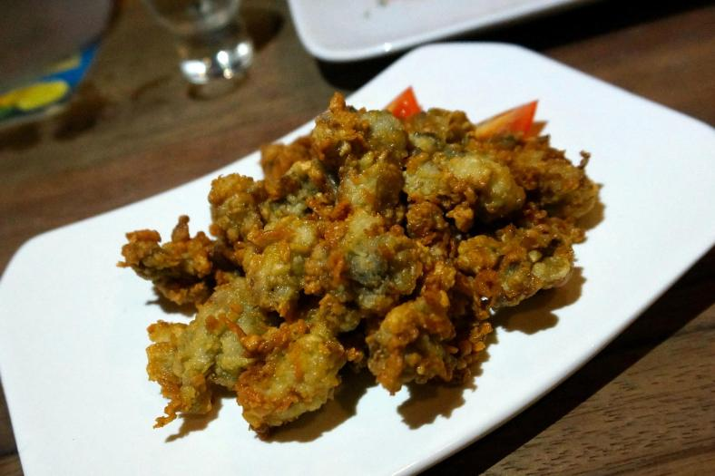 Fried Oysters - look out for this dish soon on the menu! Crispy and savoury - a fantastic accompanyment for beer!