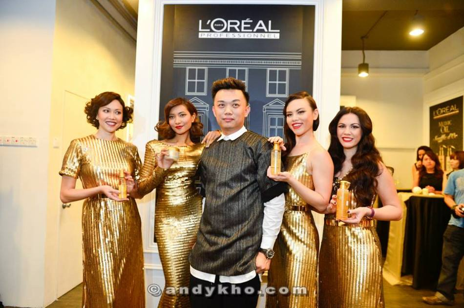 Shawn Loong with the gorgeous celebrities