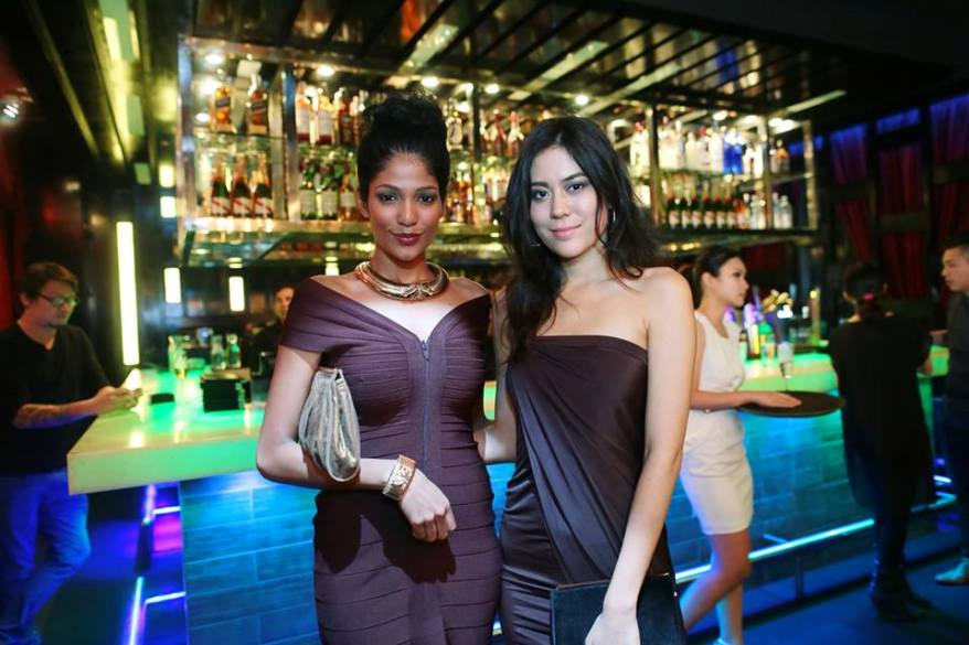 Miss Malaysia World Thanuja Ananthan and Chloe Chen