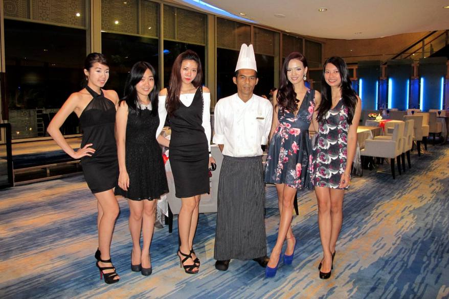 The girls with the talented chef