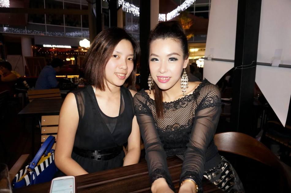 FHM Girl Next Door - 2010 finalist Crystal Liew with 2011 winner Esther Tan