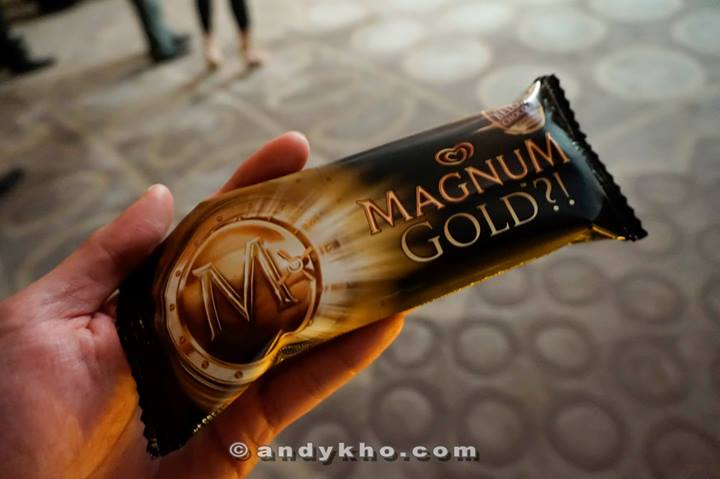 Then we were served the new Magnum Gold