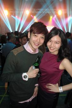 Wan Ting with Jeremy from Red FM