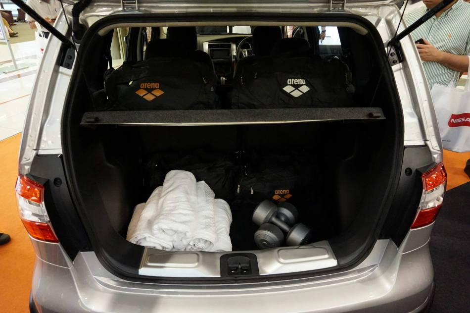 You get 383 litres of space in the boot