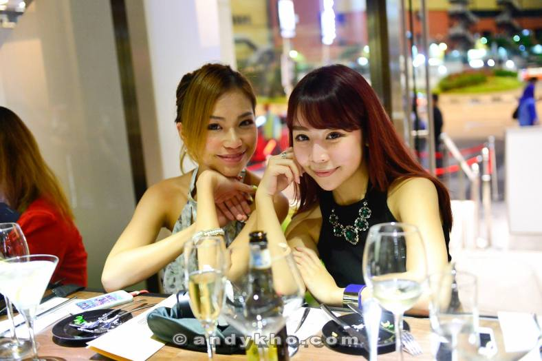 Karen Kho and Chenelle Loh looking very satisfied