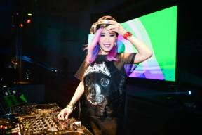 DJ Eva T on the decks