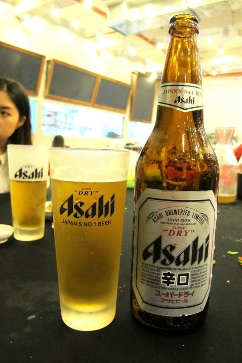 Some ice cold Asahi Super Dry to go with the meal - RM24.00 (big bottle)