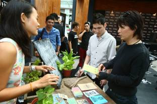 Social Entrepreneurs Eats, Shoots, Roots tell the public who attended the event a little more about what sustainable living through the power of food is