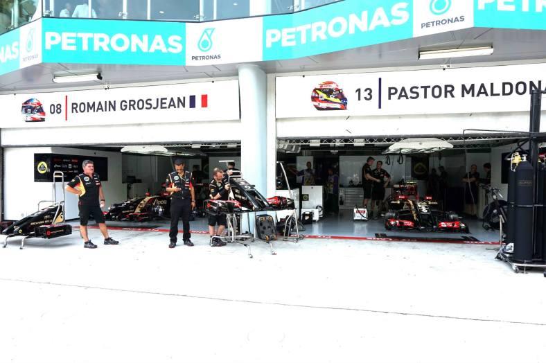 The Team Lotus garage