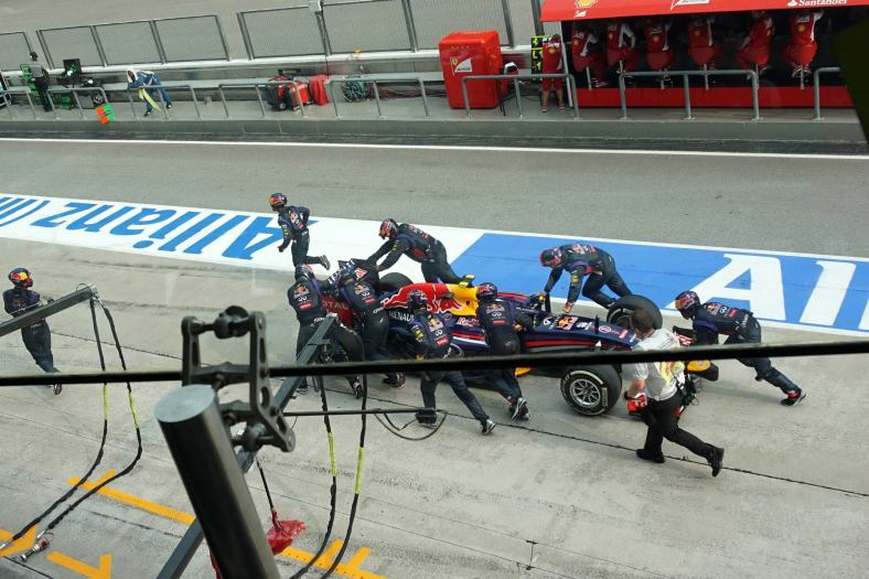 While his teammate Daniel Ricciardo didn't have a good day and was forced to retire following some bad luck and which included an unsafe release from a pit stop which had the team pushing his car back to the pits to secure a loose tire.