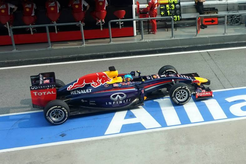 Red Bull's Sebastian Vettel had a good race and finished 3rd