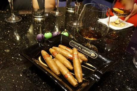 Cigars with brandy and chocolates - lovely!