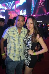 Spotted popular radio DJ JJ with Melissa Th'ng of Red FM