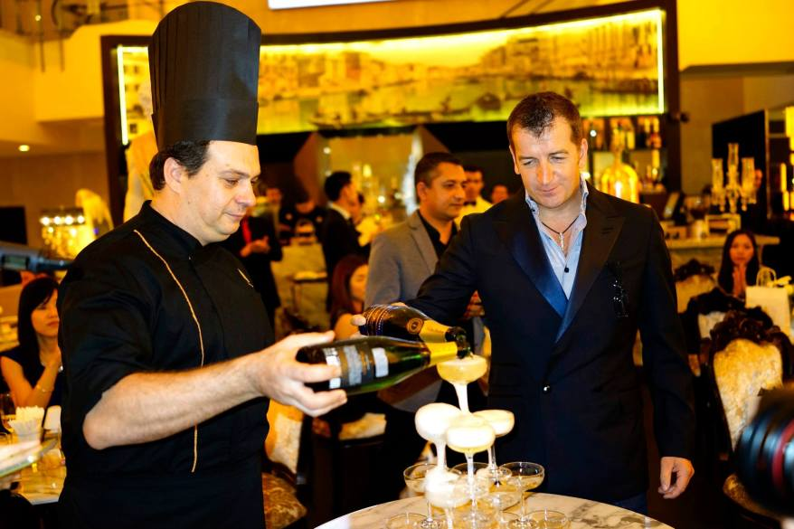Modesto Marini and the chef officially launching the outlet