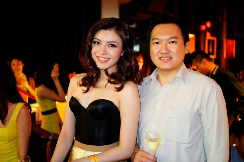 With Miss Universe Malaysia 2013 Carey Ng