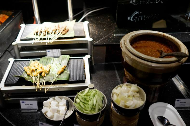Satay - you can't go wrong with freshly prepared satay right off the fire
