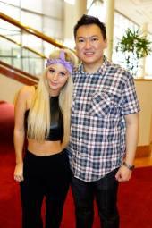 With the pretty DJ Brooklyn!
